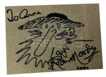 OLIVER!Ron Moody Fagin Signed Caricature